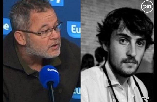 Les deux journalistes enlevés, <span>Didier François (à gauche) et Edouard Elias. </span>