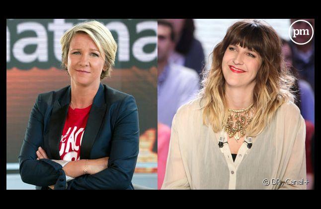Ariane Massenet et Daphné Bürki, journalistes sur Canal+.
