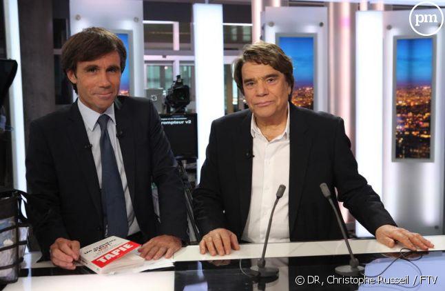 David Pujadas et Bernard Tapie au JT de 20h de France 2