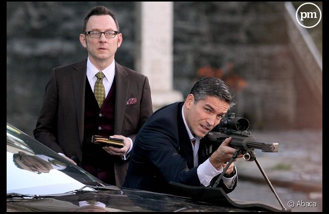 """Le tournage de """"Person of interest"""" a été interrompu par la NYPD ( Jim Caviezel et Michael Emerson)"""