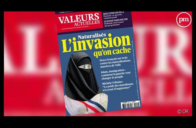"""La Une de """"Valeurs Actuelles""""."""