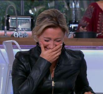 Anne-Sophia Lapix prise d'une immense fou rire, dans 'C à...