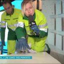 """Anne-Elisabeth Lemoine sur le plateau du """"Grand Journal"""", sur Canal+."""