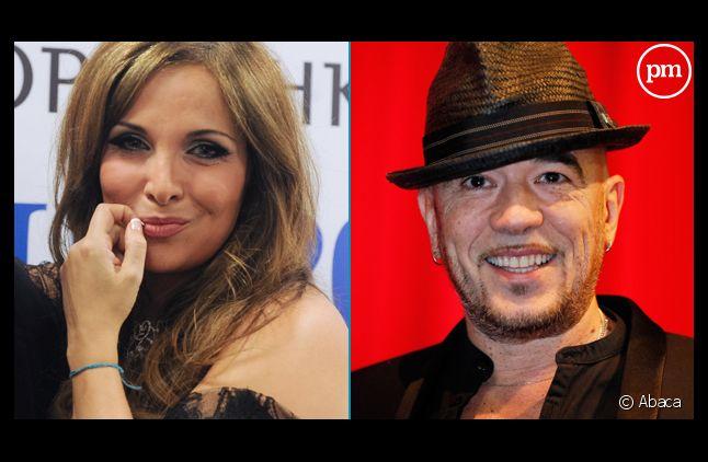 """Hélène Ségara et Pascal Obispo, mentors de l'équipe de Florent Pagny dans """"The Voice"""" 3"""