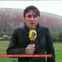 Un journaliste trempé et frigorifié en direct sur Canal+ et i-TELE