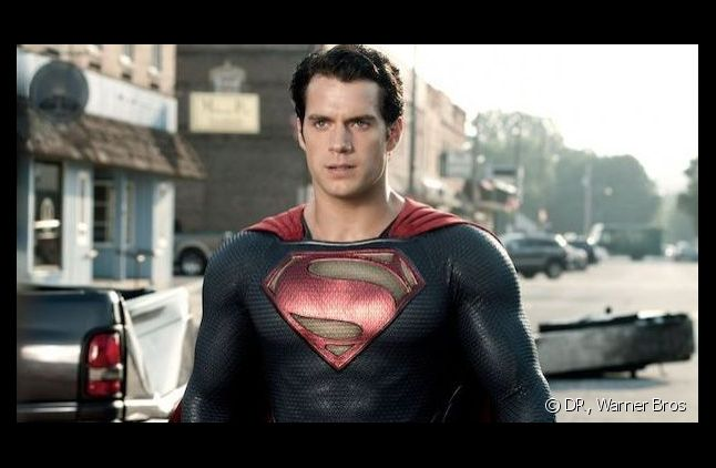 "Henry Cavill, le nouveau ""Superman"", dans ""Man of Steel""."