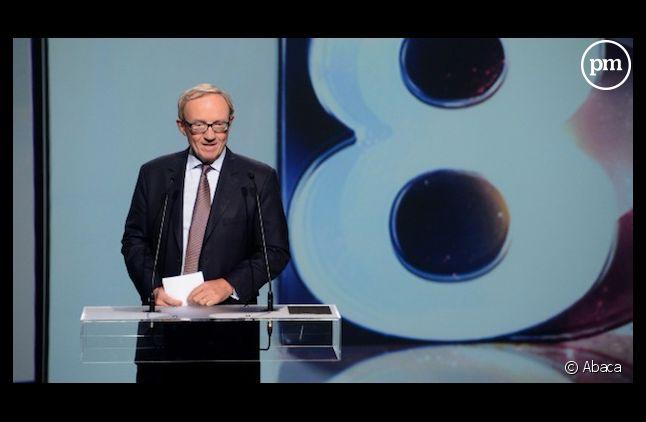Bertrand Méheut, le président de Canal+, lors de la présentation de la relance de D8.