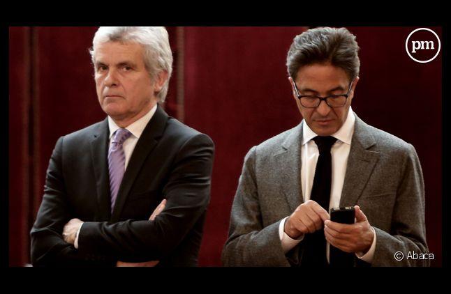Claude Sérillon, à gauche et Aquilino Morelle, à droite.