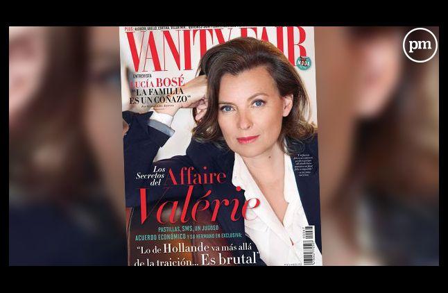 La Une du Vanity Fair espagnol avec Valérie Trierweiler.