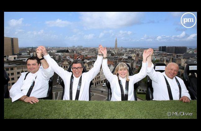 """Les jurés de """"Top Chef"""" dans les airs à Bruxelles"""