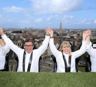 Les jurés de 'Top Chef' dans les airs à Bruxelles