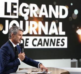 Antoine de Caunes, sur le plateau du 'Grand Journal' de...