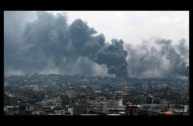 Image d'un bombardement sur Gaza