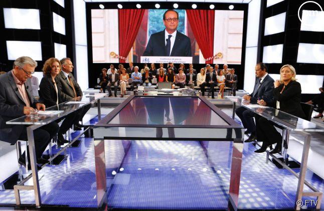 """""""Des paroles et des actes"""", sur France 2."""