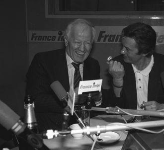 Jacques Chancel et Alain Delon