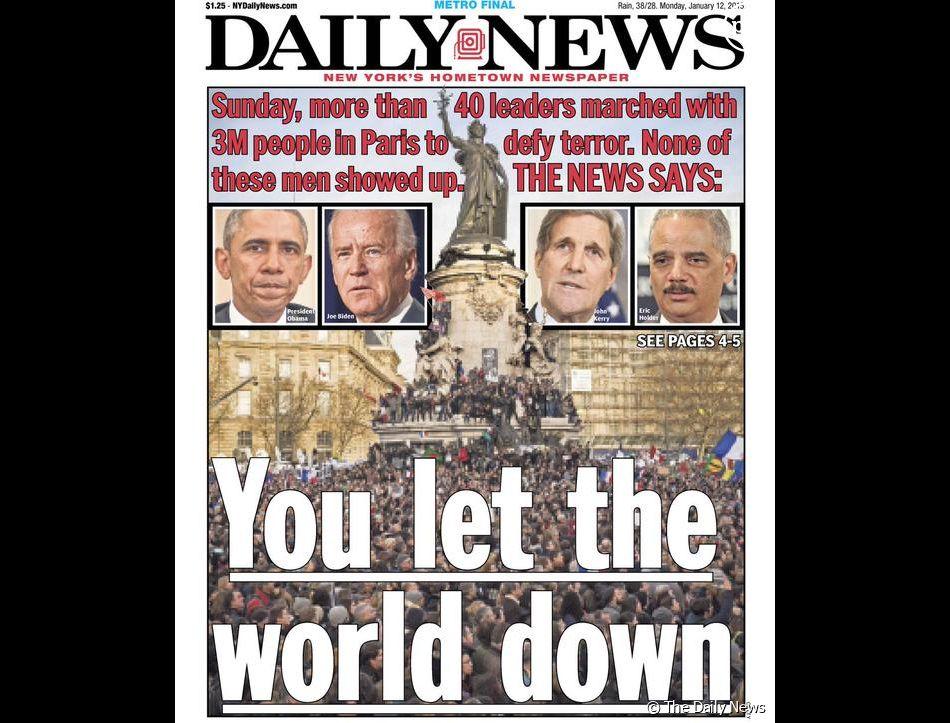 """Une du """"Daily News"""""""
