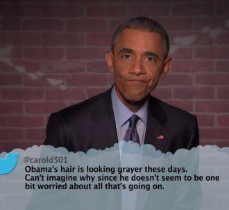 Barack Obama lit des tweets odieux le concernant