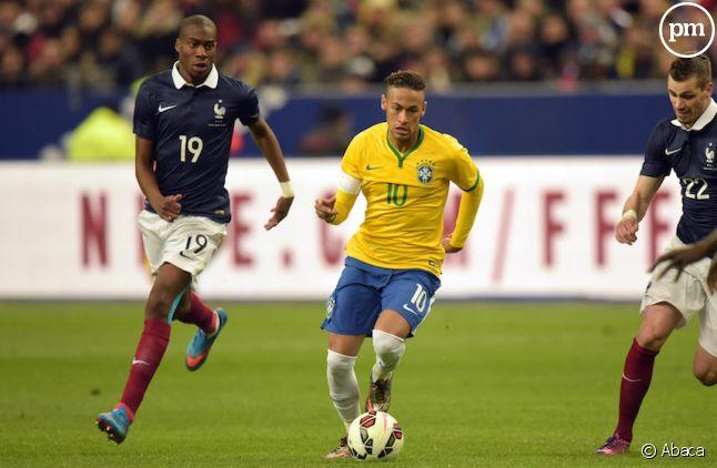<span> Neymar Jr lors du match </span>France/Brésil