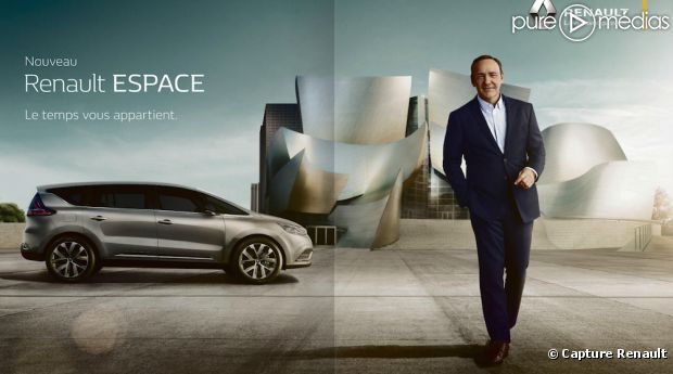 pub kevin spacey refait sa carri re pour l 39 espace de renault. Black Bedroom Furniture Sets. Home Design Ideas
