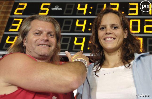 Laure Manaudou et Philippe Lucas en 2006