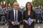 Défilé du 14 juillet : Gilles Bouleau et Anne-Claire Coudray pour TF1, Marie Drucker pour France 2