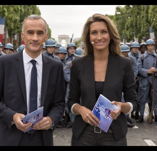 Gilles Bouleau et Anne-claire Coudray, le 14 juillet 2014.