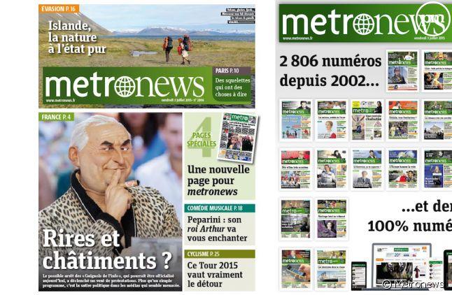 Dernière Une de Metronews et sélection des plus marquantes