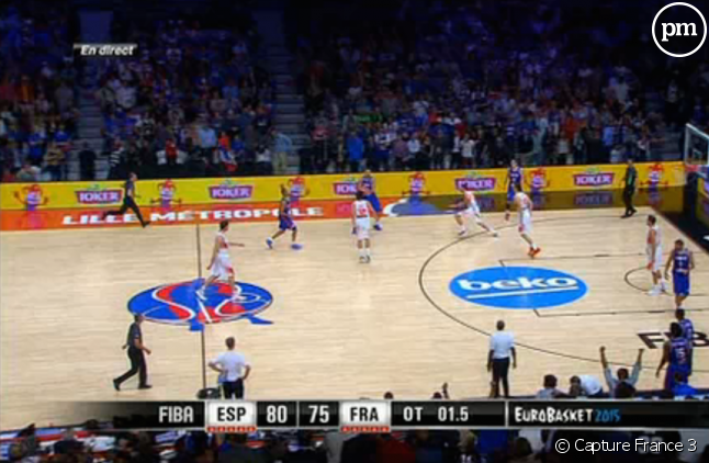 Les Français ont été battus 80-75 par l'Espagne en demi-finale de l'Euro 2015 de Basket