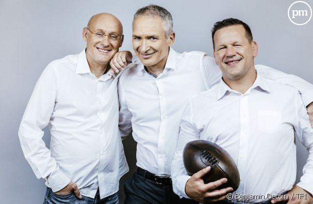 Christian Jeanpierre, Bernard Laporte et Christian Califano<em></em>