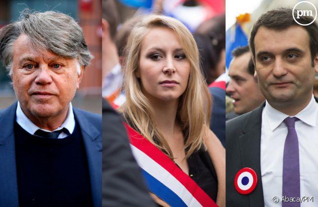 Gilbert Collard, Marion Maréchal Le Pen et Florian Philippot