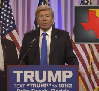 Jimmy Fallon grimé en Donadl Trump.