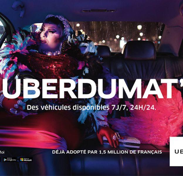 Uberdumat' : Première campagne de publicité d'Uber