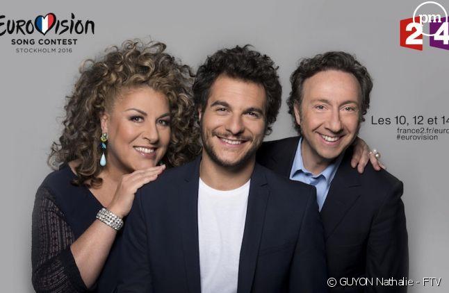 Marianne James, Amir et Stéphane Bern
