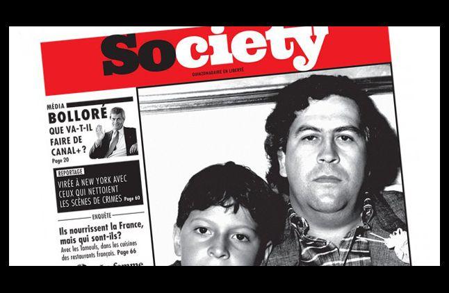 """La Une de """"Society"""" avec l'enquête sur Canal+."""