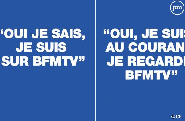 Campagne d'affichage de BFMTV