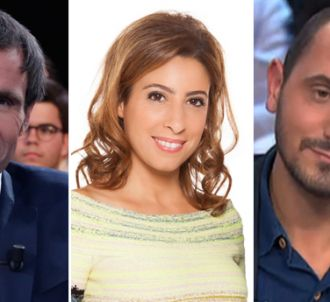 David Pujadas, Léa Salamé et Karim Rissouli.