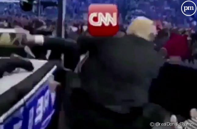 Capture d'écran de la vidéo postée hier de Donald Trump.