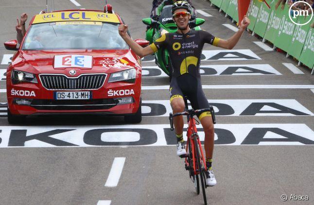 Lilian Calmejane, vainqueur de la huitième étape du Tour de France