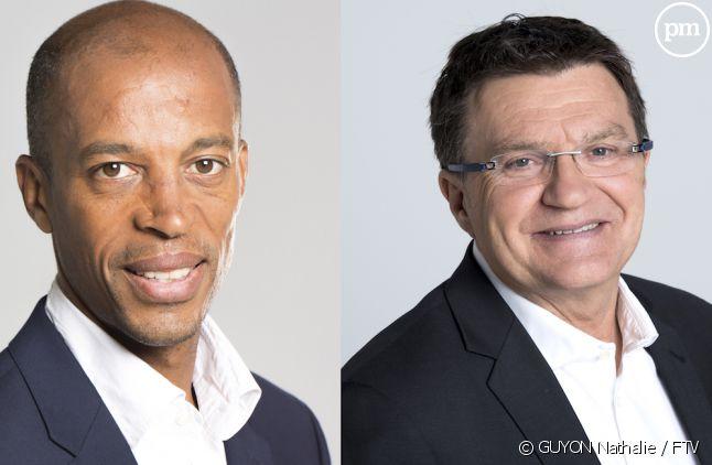 Stéphane Diagana et Patrick Montel