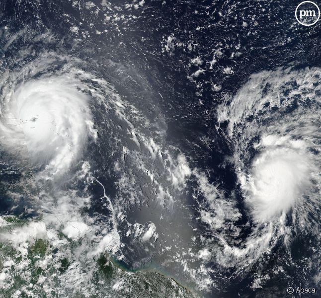 Le cyclone Irma vu d'un satellite.