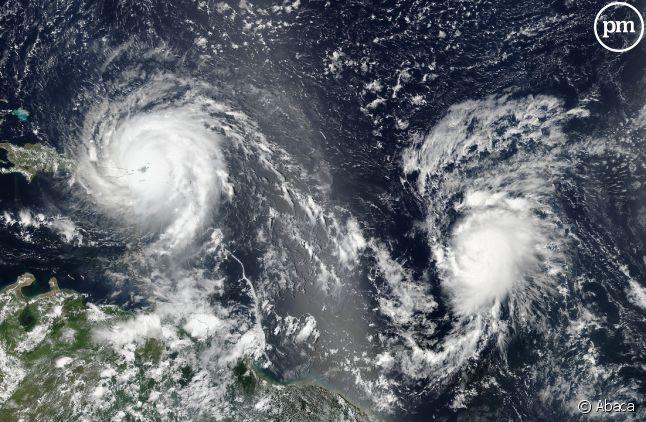 Le cyclone Irma vu d'un satellite.