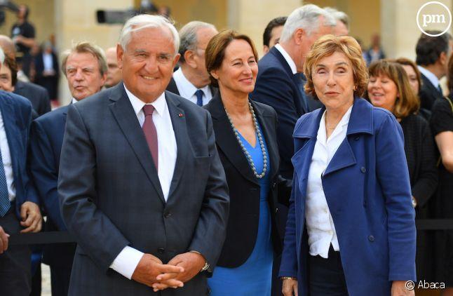 Jean-Pierre Raffarin, Ségolène Royal et Édith Cresson en juillet 2017.
