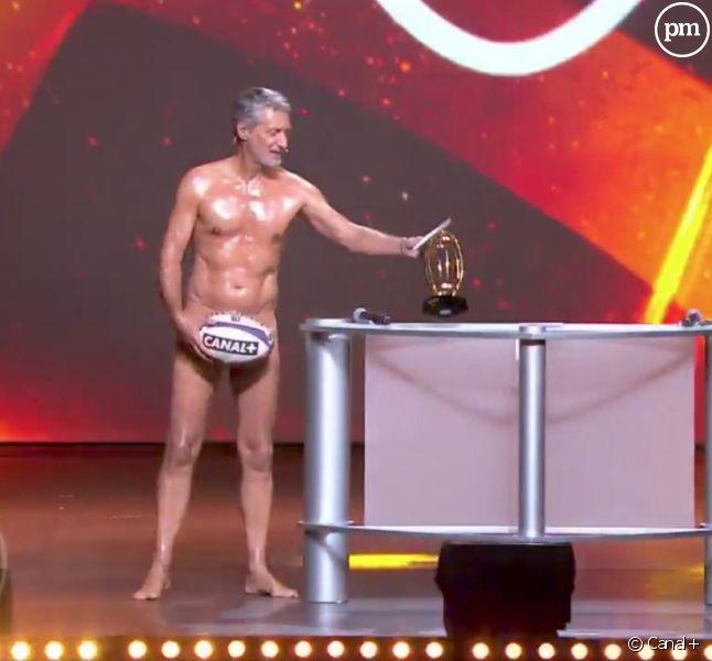 """Antoine de Caunes et Isabelle Ithurburu dans """"La Nuit du rugby"""""""