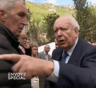 Jean-Claude Gaudin s'énerve contre un journaliste de...