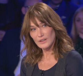 Carla Bruni interrogée par Laurent Ruquier dans 'On n'est...