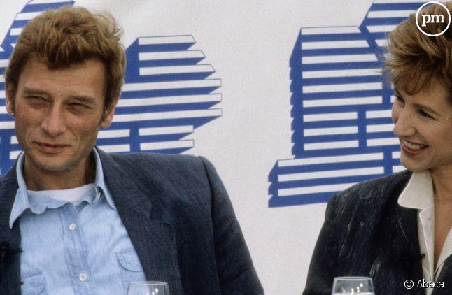 Johnny Hallyday et Nathalie Baye en interview sur TF1