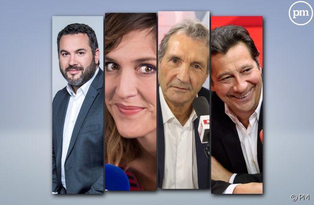 Bruce Toussaint, Daphné Burki, Jean-Jacques Bourdin, Laurent Gerra