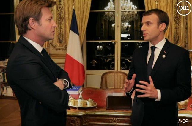 Laurent Delahousse face à Emmanuel Macron