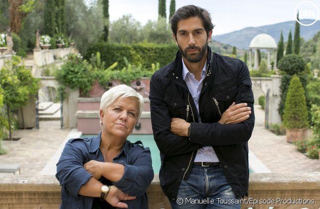 """Mathieu Delarive et Mimie Mathy dans """"Liens de sang"""""""