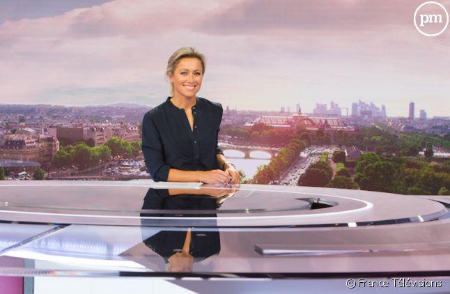 """Anne-Sophie Lapix au """"20 Heures"""" de France 2"""